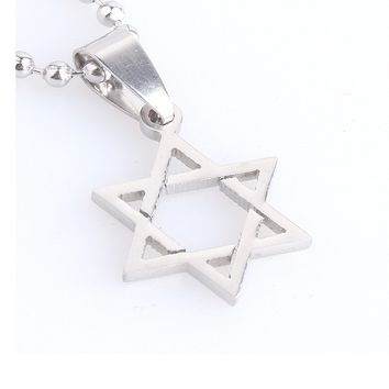 Hexagram David Star Stainless Steel Pendant Necklaces