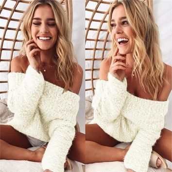 Fashion Womens Knit Top Long Sleeve Sweater