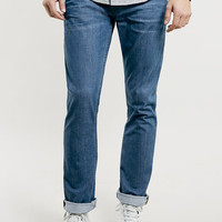 MID BLUE WASH REGULAR SLIM JEANS - New This Week - New In
