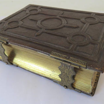 Antique French, Tooled Leather, Photo Album, No Photo's.