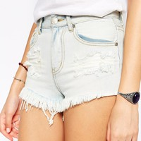 Glamorous Tall Distressed Denim Short