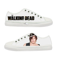 The Walking Dead Daryl Dixon Norman Reedus Women Canvas Shoes - Sizes: US 5 6 7 8 9 - EUR 36 37 38 39 40