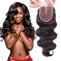Brazilian Hair Body Wave Unprocessed Human Hair Top Lace Closure Bleached Knots with Baby Hair