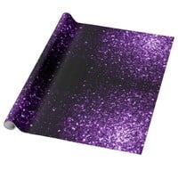 Trendy Beautiful Purple sparkles print Gift Wrap Paper by PLdesign