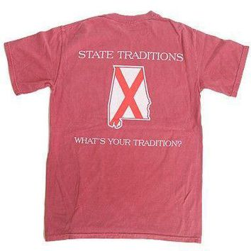 AL Traditional T-Shirt in Crimson by State Traditions
