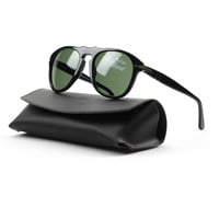 Persol PO0649 95/31 52mm Black Sunglasses with Grey Lenses