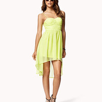 Eyelet Bodice High-Low Dress | FOREVER 21 - 2046890441