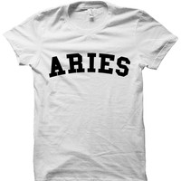 ARIES T-SHIRT TEAM ARIES SHIRT ZODIAC SIGN SHIRTS COOL SHIRTS HIPSTER CLOTHES GIFTS FOR TEENS BIRTHDAY GIFTS CHRISTMAS GIFTS from CELEBRITY COTTON