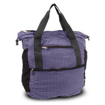 Travelon Stow-Away Convertible Tote or Backpack Duo (Eggplant/Purple Plaid)