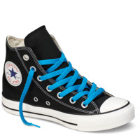 "Neon Blue Hi-Top 54"" Shoe Laces : Converse Shoelaces 