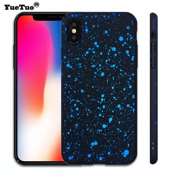 YueTuo case for apple iphone X 10 3d bling glitter luxury original hard back ultra thin full protective cover for iphoneX coque
