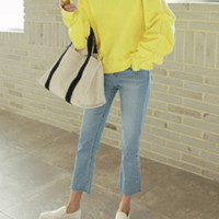 Spring Shirring Sweatshirt