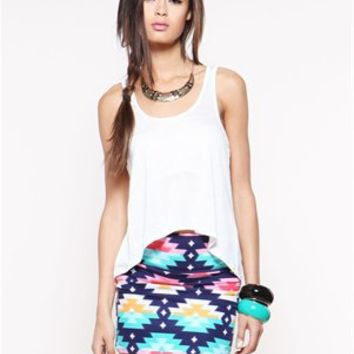 A'GACI Colorful Native American Bodycon Mini - Bottoms