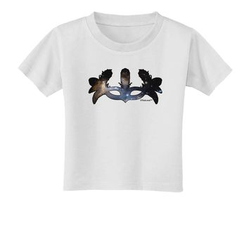 Galaxy Masquerade Mask Toddler T-Shirt by TooLoud