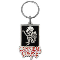Cannibal Corpse Foetus / Logo Metal Key Chain Silver