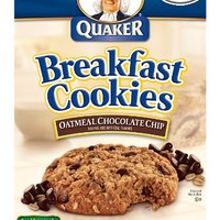 Quaker Breakfast Cookies, Oatmeal Chocolate Chip, 6 Cookies Per Box (Pack of 6)