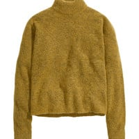 H&M - Mohair-blend Sweater - Mustard yellow - Ladies