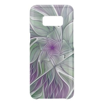 Flower Dream, Abstract Purple Green Fractal Art Get Uncommon Samsung Galaxy S8 Case