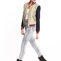 VARSITY GIRL FAUX LEATHER JACKET