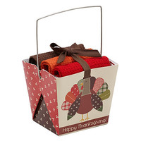 HAPPY THANKSGIVING KITCHEN CLOTHS GIFT BOX