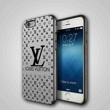 Louis Vuitton silver, iPhone 4/4S, 5/5S, 5C Series Hard Plastic Case
