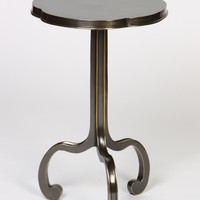 Three Legged Clover Table in Antique Brass Finish