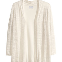 Lace-knit Cardigan - from H&M
