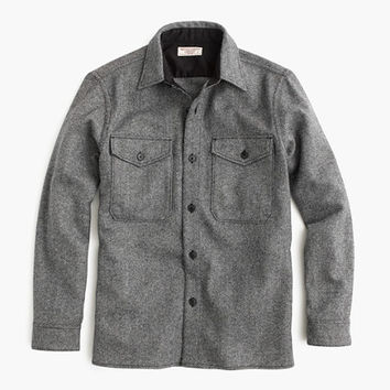 J.Crew Mens Wallace & Barnes Shirt-Jacket In English Wool