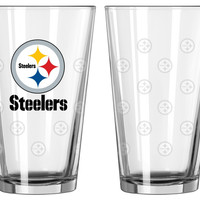 Pittsburgh Steelers Satin Etch Pint Glass Set