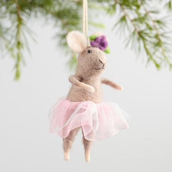 Felt Ballerina Mouse Ornaments Set of 3