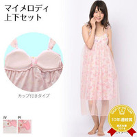 (my melody) the camisole dress petticoat bread top and bottom set Lady's with the MY MELODY ribbon Mai Melo pajamas cup