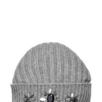 Kate Spade Large Medallions Beanie Grey Melange ONE