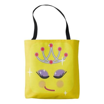 Sparkly Princess Emoticon Tote Bag