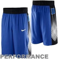 Nike Duke Blue Devils Hyper Elite Road Warrior Performance Basketball Shorts - Duke Blue