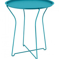 Dar Metal Tray Side Table Blue One Size For Women 27432320001