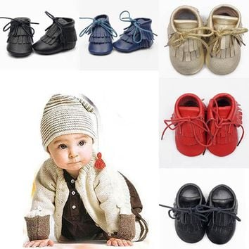1 Pair Baby Toddler Winter Moccasins Tassel Shoes Firstwalker Boots Genuine Leather Shoes Suitable For 0-24 Months Kids