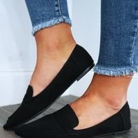 Step My Way Flats: Black