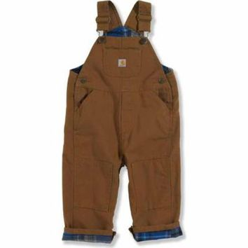 Carhartt® Toddler Boys' Lined Bib Overall, Carhartt® Brown