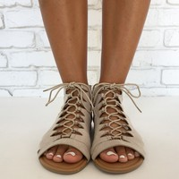 Archer Gladiator Lace Up Sandals