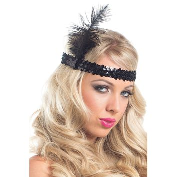 Be Wicked BW226 Feather Headpiece
