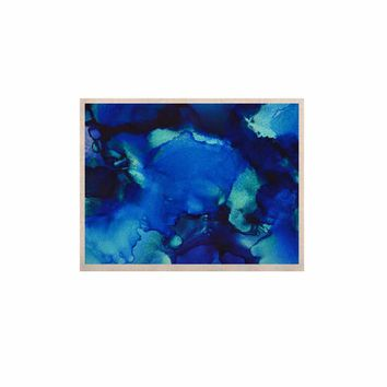 """Claire Day """"Mountain Stream"""" Blue Teal Abstract Painting KESS Naturals Canvas (Frame not Included)"""