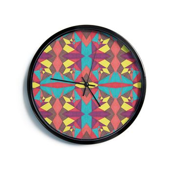 "Empire Ruhl ""Abstract Insects"" Multicolor Modern Wall Clock"