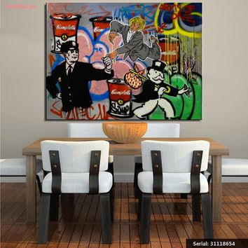 Alec monopoly Still life Abstract oil Painting Drawing art Spray Unframed Canvas hand square gemstone action hologram31118654