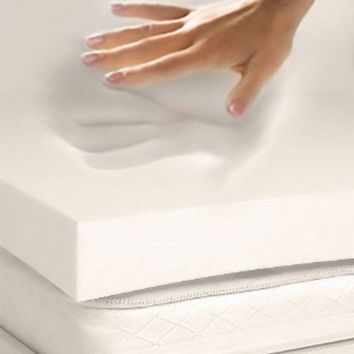 Twin Size 3-In Thick 4-Lb Memory Foam Mattress Topper Mattress Pad