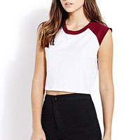Sporty Colorblocked Crop Top