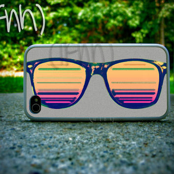 iPhone 4 Case Sunglasses Colorful iPhone Case