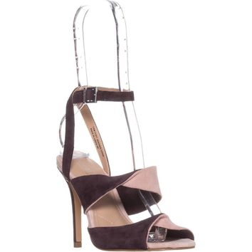 Charles by Charles David Radley Dress Ankle-Strap Sandals, Cabernet Misty Suede, 5 US