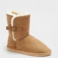 Sand Buckled Faux Fur Solemate