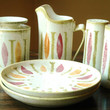 Red Wing Pepe Dinnerware Set  Mid Century Modern Dish by JunkHouse