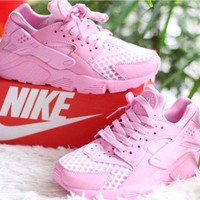"""NIKE""AIR Huarache Pink Running Sport Casual Shoes Sneakers"